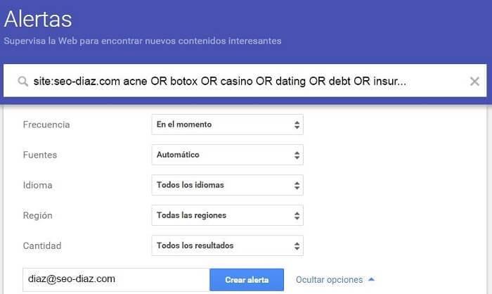 ¿Qué es eso del SEO negativo? - Google Alerts